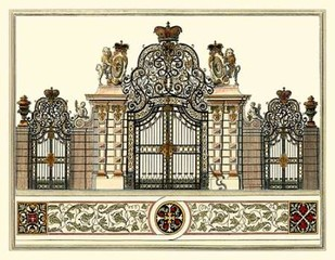 The Grand Garden Gate I Digital Print by Kleiner, O.,Realism