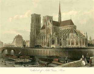 Cathedral of Notre-Dame, Paris Print By Allom, T.
