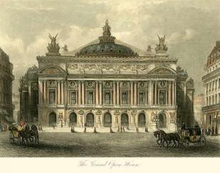 The Grand Opera House, Paris Digital Print by Allom, T.,Realism