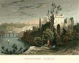 Chepstow Castle Digital Print by Allom, T.,Realism