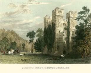 Ainwick Abbey, Northumberland Digital Print by Allom, T.,Realism