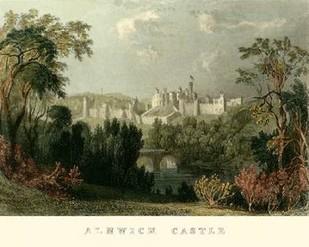 Ainwick Castle Digital Print by Allom, T.,Realism