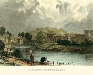 Appleby, Westmoreland Digital Print by Allom, T.,Realism