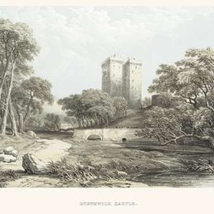 Borthwick Castle Digital Print by Unknown,Illustration