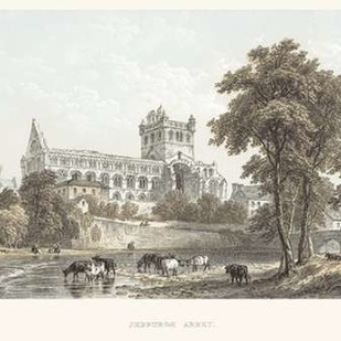 Jedburgh Abbey Digital Print by Unknown,Illustration