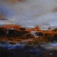 Abstact -8 by Atul Virkar, Abstract Painting, Acrylic on Canvas, Gray color