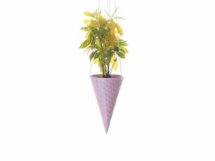 PoppadumArt Ice-cream Cone Planter - Strawberry Garden Decor By PoppadumArt