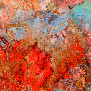 Untitled (Interstellar Series) by Bahaar Dhawan Rohatgi, Abstract Painting, Mixed Media on Canvas, Brown color