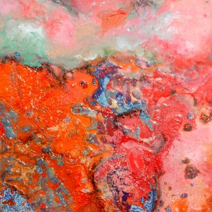 Untitled (Interstellar Series) by Bahaar Dhawan Rohatgi, Abstract Painting, Mixed Media on Canvas, Pink color