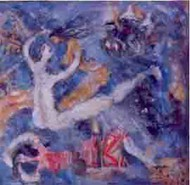 Love 2 by Madhu Dhanuka Jain, Expressionism Painting, Acrylic on Canvas, Blue color