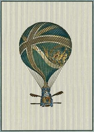 Vintage Ballooning IV Digital Print by Vision Studio,Decorative