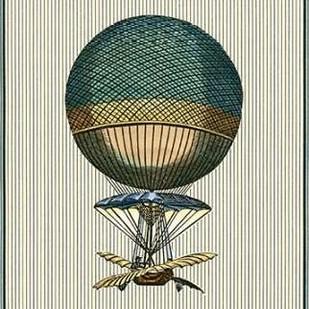 Vintage Ballooning III Digital Print by Vision Studio,Decorative