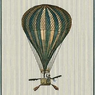 Vintage Ballooning II Digital Print by Vision Studio,Decorative