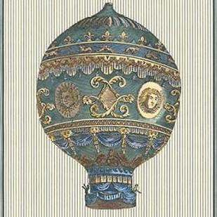 Vintage Ballooning I Digital Print by Vision Studio,Decorative