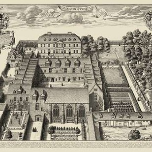 Oxford View Digital Print by unknown,Illustration