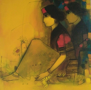 Golden light Digital Print by Sachin Sagare,Expressionism