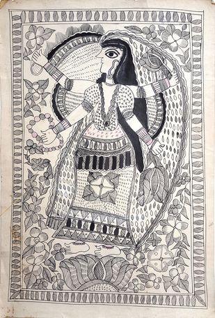 Goddess of Wealth And Beauty Artwork By Urmila Devi