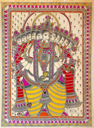 Viraat Ganesha- The Majestic Ganesha Artwork By Sanjay Kumar Jayswal 'Srijan'