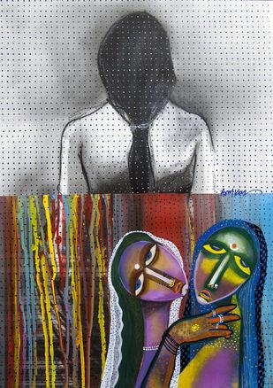 death of virginity Digital Print by Arun K Mishra,Expressionism