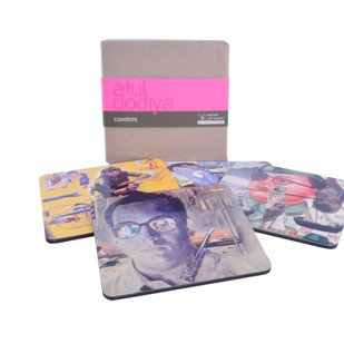 Atul Dodiya Coaster (Set of 4) Coaster Set By Vadehra Bookstore