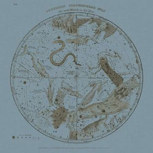 Southern Circumpolar Map Digital Print by Evans, W.G.,Decorative