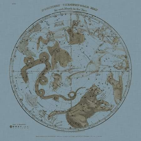 Northern Circumpolar Map Digital Print by Evans, W.G.,Decorative