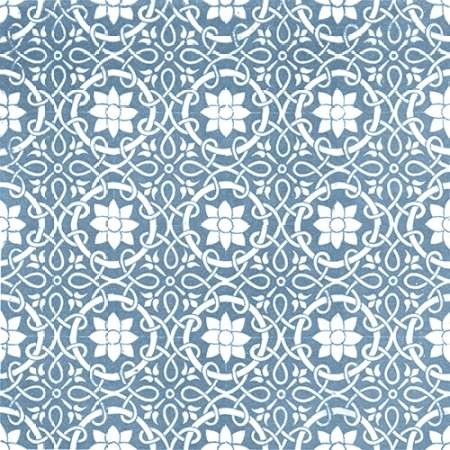 Chambray Tile VII Digital Print by Vision Studio,Decorative