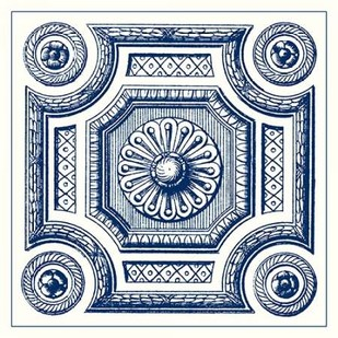 Indigo Medallion III Digital Print by Vision Studio,Decorative