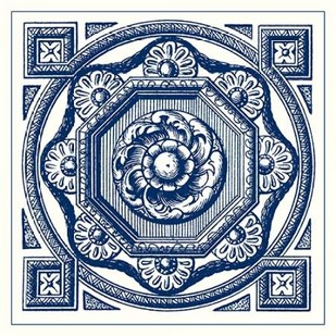 Indigo Medallion I Digital Print by Vision Studio,Decorative