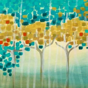 Forest Mosaic I Digital Print by Vess, June Erica,Abstract