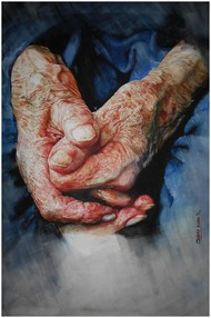 Loving hands Digital Print by Uday Bhan,Realism