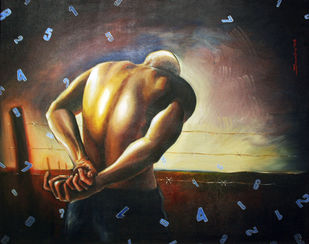 Matrix by Soumitra Adhikary, Realism Painting, Acrylic on Canvas, Brown color