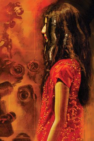 Focus by Soumitra Adhikary, Digital Digital Art, Digital Print on Canvas, Brown color