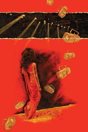 Spotlight by Soumitra Adhikary, Digital Digital Art, Digital Print on Canvas, Red color