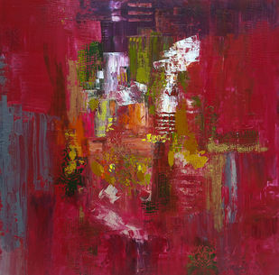 Celebration by Sheetal Singh, Abstract Painting, Acrylic on Canvas, Brown color