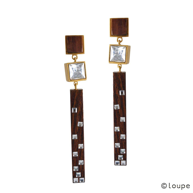 Cubical Dazzle Earrings by Loupe , Contemporary Earring