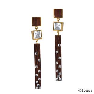 Cubical Dazzle Earrings Earring By Loupe