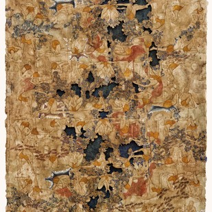 Is This The New 'Black' by Anindita Bhattacharya, Abstract Painting, Mixed Media on Paper, Brown color