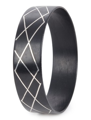 criss cross bangle by Bidriwala, Contemporary Bangle