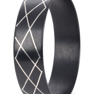 criss cross bangle Bangle By Bidriwala