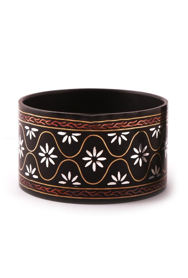 Mughal design Bidri Bangle by Bidriwala, Contemporary Bangle