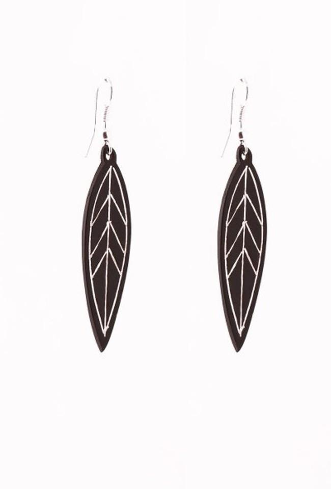 Leaf Bidri Earrings by Bidriwala, Contemporary Earring