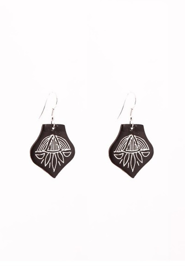 Drop Bidri Ear rings by Bidriwala, Contemporary Earring