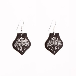 Drop Bidri Ear rings Earring By Bidriwala