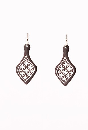Fulzadi bidri ear rings Earring By Bidriwala