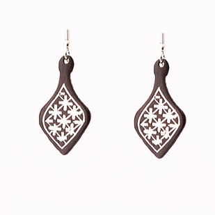 Fulzadi bidri ear rings by Bidriwala, Contemporary Earring