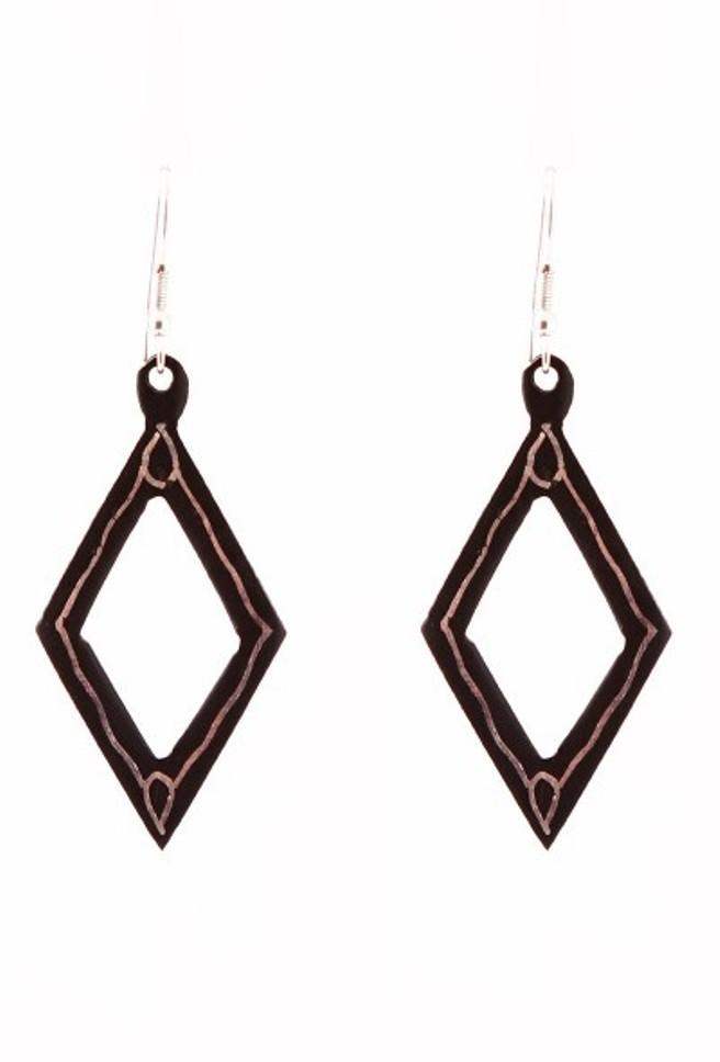 Rhombus Bidri Earring by Bidriwala, Contemporary Earring