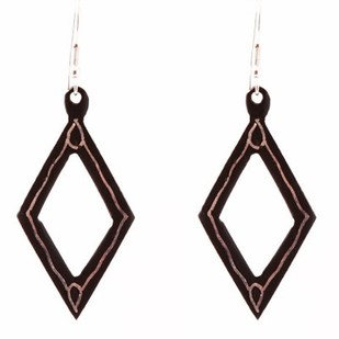 Rhombus Bidri Earring by Bidriwala, Contemporary Earring