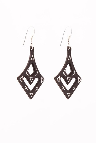 Curvy Bidri Earrings Earring By Bidriwala