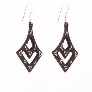 Curvy Bidri Earrings by Bidriwala, Contemporary Earring